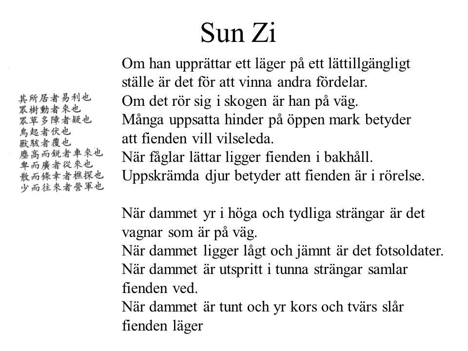Sun Zi Om han upprättar ett läger på ett lättillgängligt ställe är det för att vinna andra fördelar.