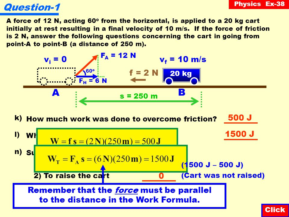 Physics Ex-38 Question-8 A bullet of mass 2 g, traveling at 500 m/s, is fired at a piece of wood.