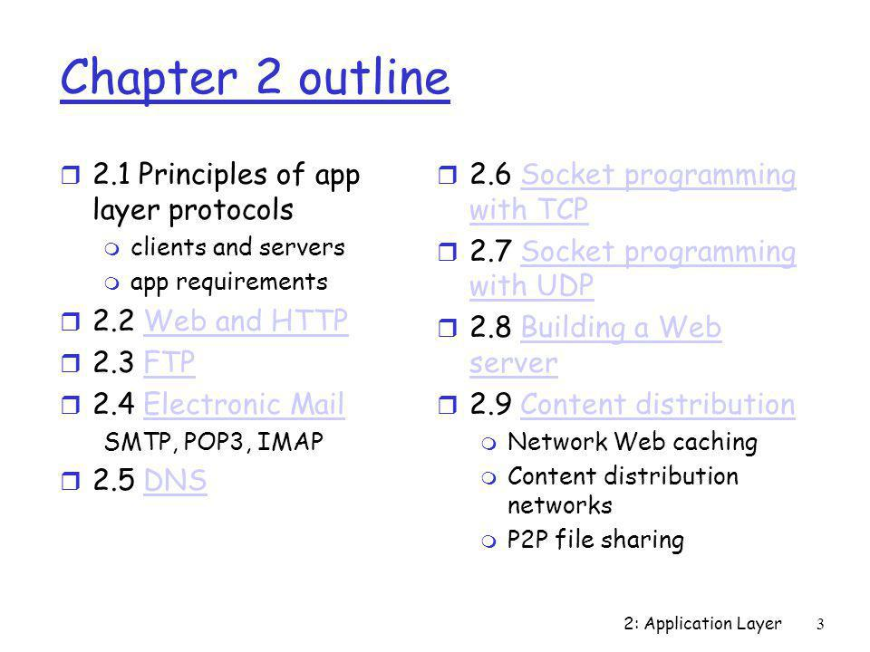 2: Application Layer4 Network applications: some jargon Process: program running within a host.