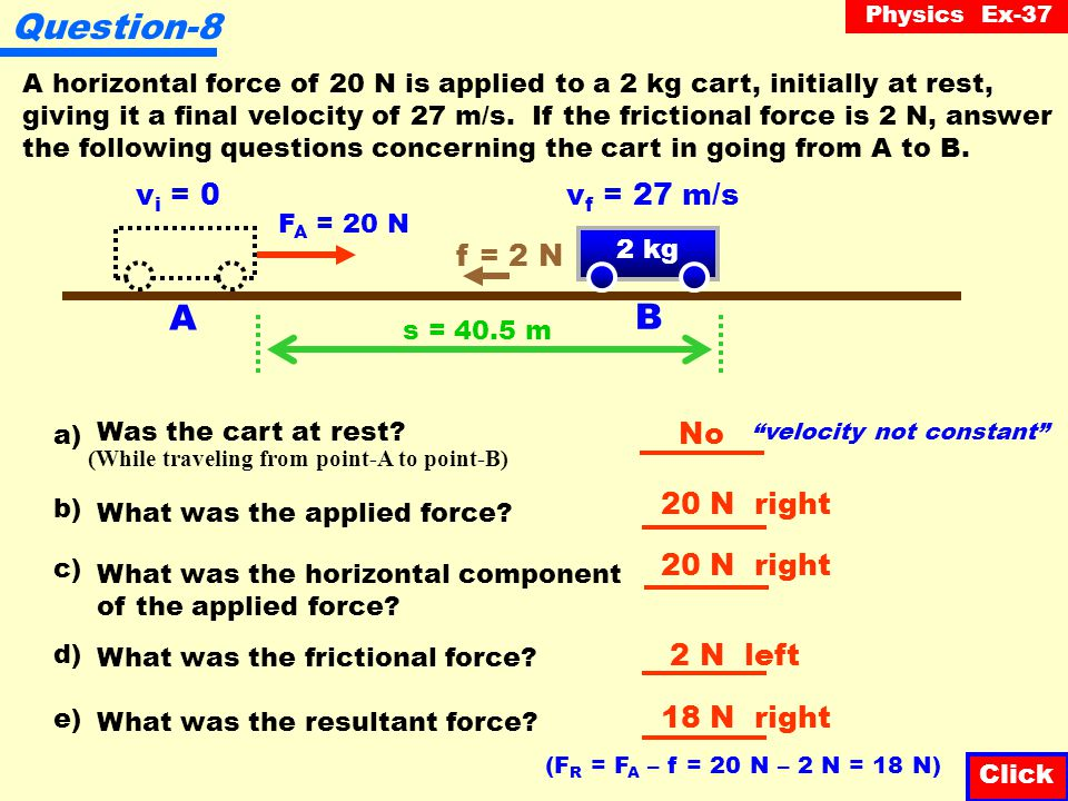 Physics Ex-37 Question-7 How much work was done to overcome friction.