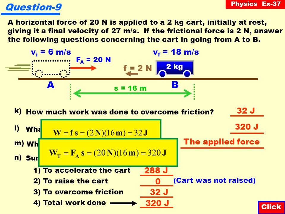 Physics Ex-37 What was the acceleration of the cart.