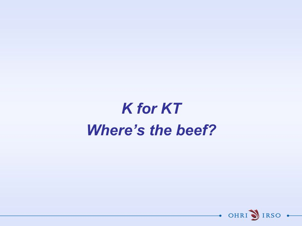 K for KT Where's the beef