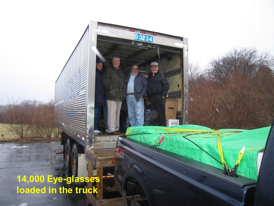 20 14,000 Eye-glasses loaded in the truck