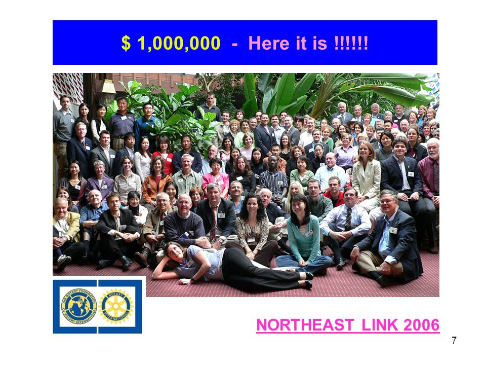 7 $ 1,000,000 - Here it is !!!!!! NORTHEAST LINK 2006