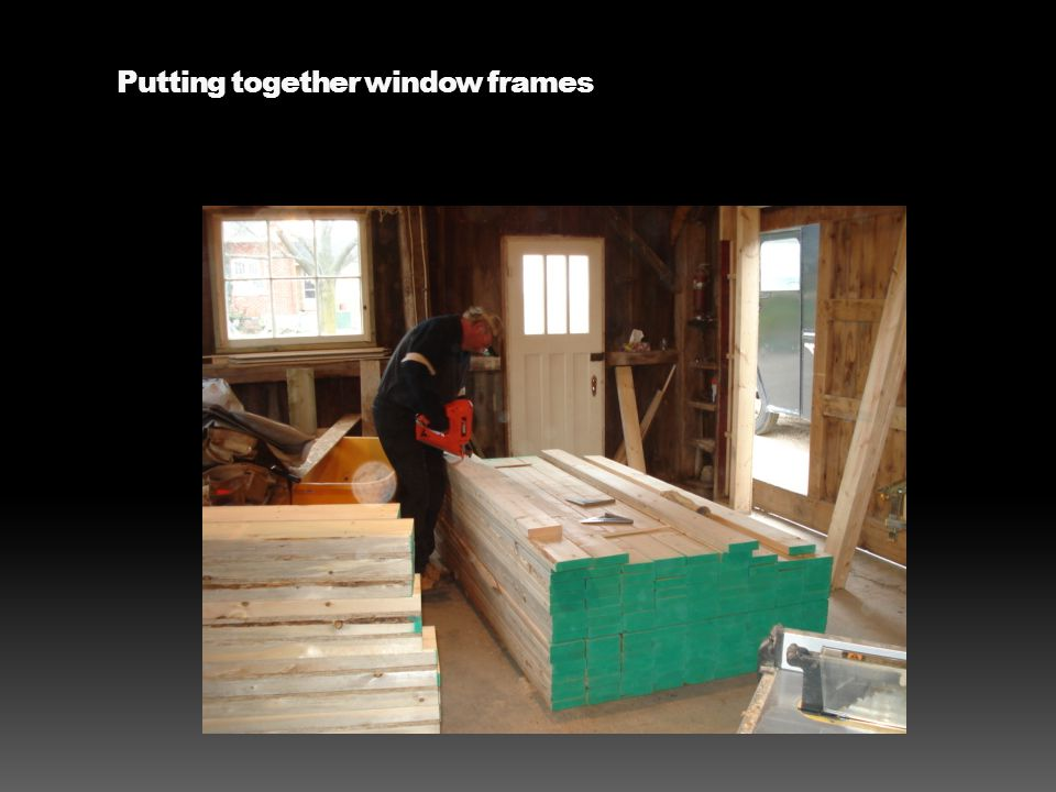 Putting together window frames