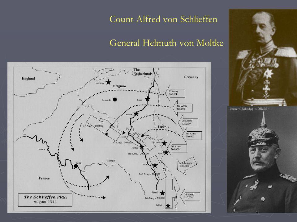 Count Alfred von Schlieffen General Helmuth von Moltke