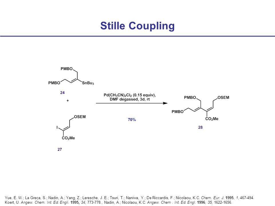 Stille Coupling Yue, E. W.; La Greca, S.; Nadin, A.; Yang, Z.; Leresche, J.