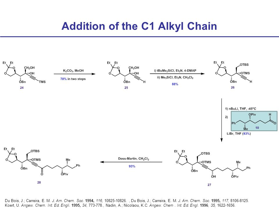 Addition of the C1 Alkyl Chain Du Bois, J.; Carreira, E.