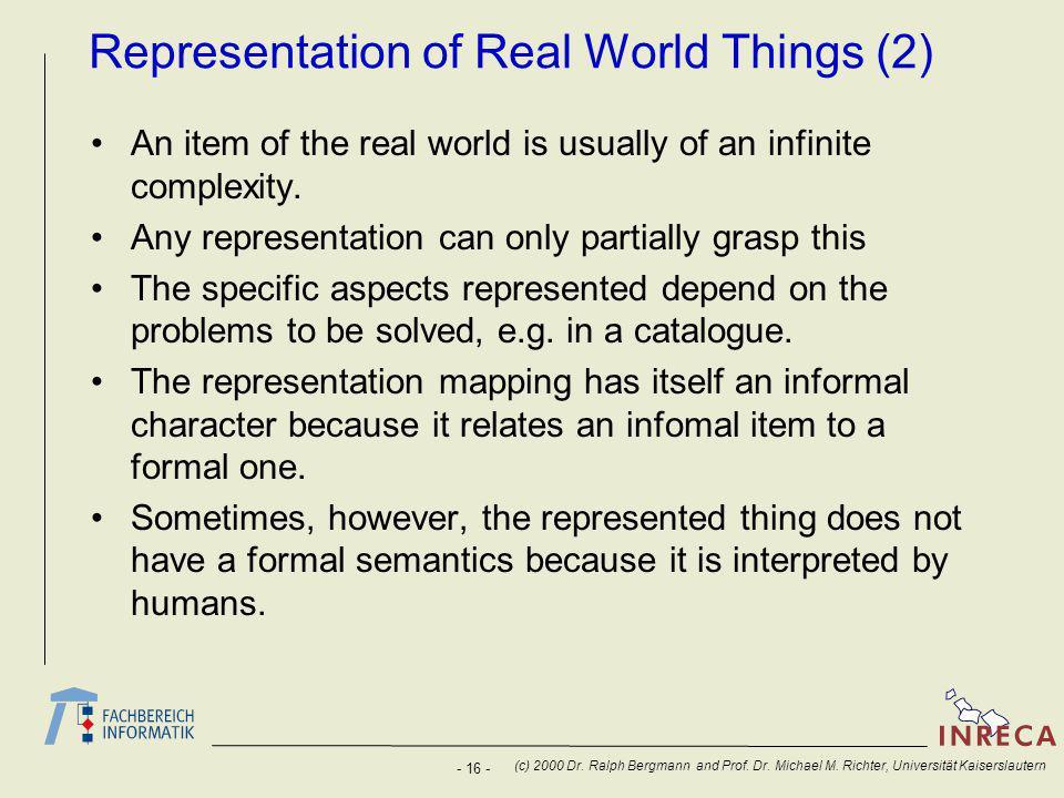 - 16 - (c) 2000 Dr. Ralph Bergmann and Prof. Dr.