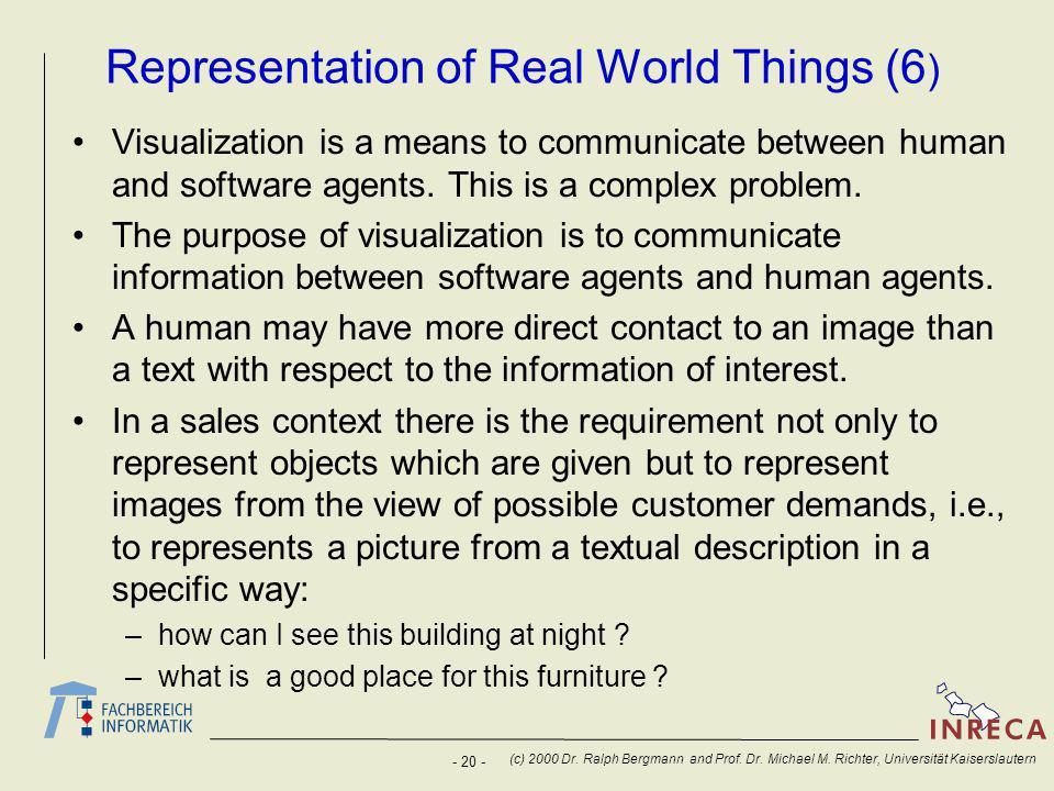 - 20 - (c) 2000 Dr. Ralph Bergmann and Prof. Dr.