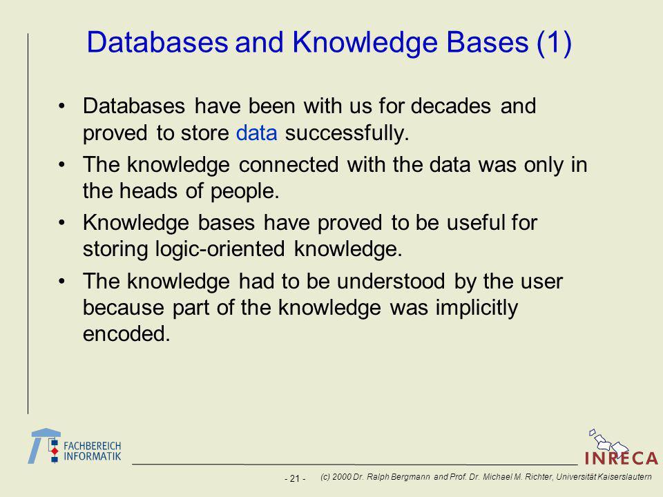 - 21 - (c) 2000 Dr. Ralph Bergmann and Prof. Dr.