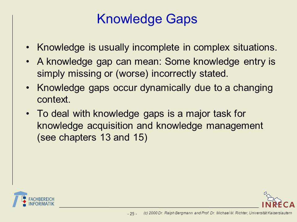 - 25 - (c) 2000 Dr. Ralph Bergmann and Prof. Dr.