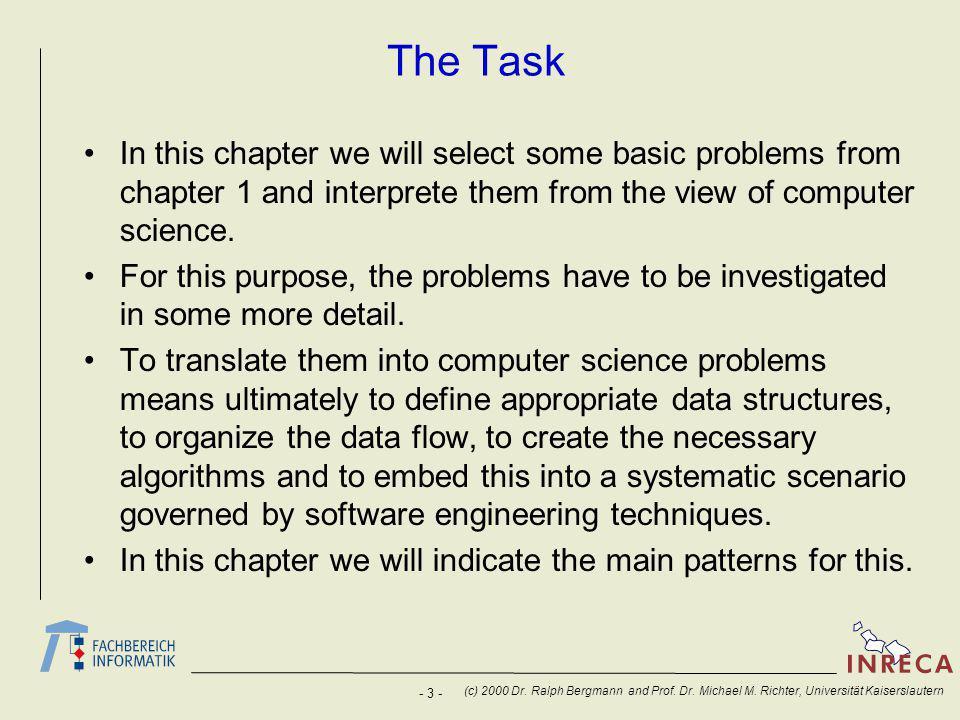 - 3 - (c) 2000 Dr. Ralph Bergmann and Prof. Dr. Michael M.