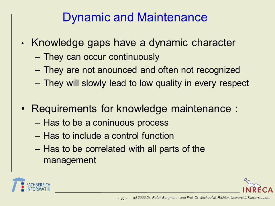 - 30 - (c) 2000 Dr. Ralph Bergmann and Prof. Dr.