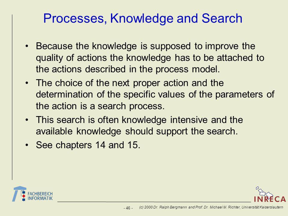 - 46 - (c) 2000 Dr. Ralph Bergmann and Prof. Dr.