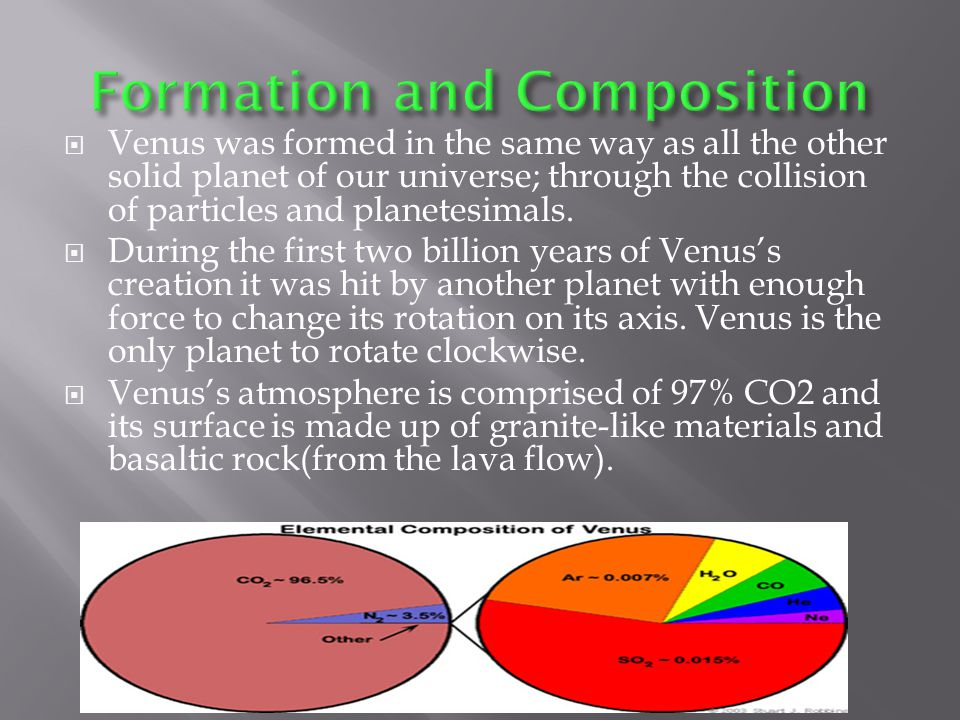  The crust of Venus is thought to be about 50 km thick.