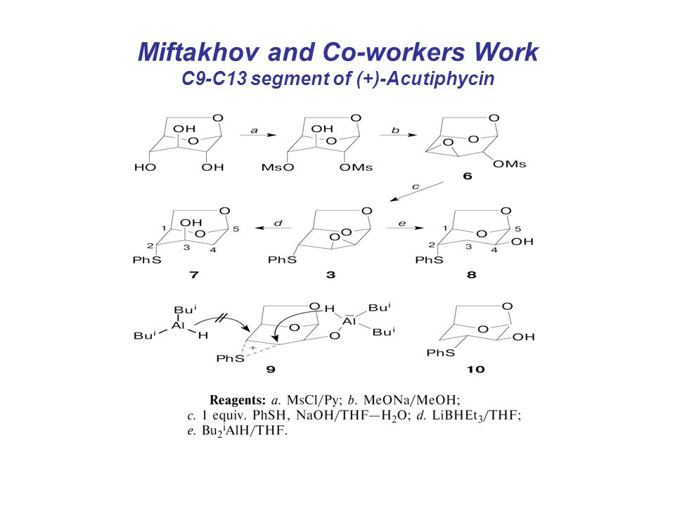 Miftakhov and Co-workers Work C9-C13 segment of (+)-Acutiphycin