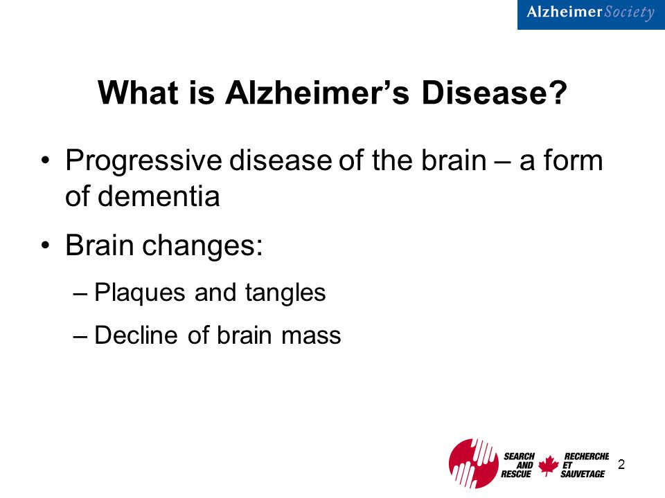 2 What is Alzheimer's Disease.