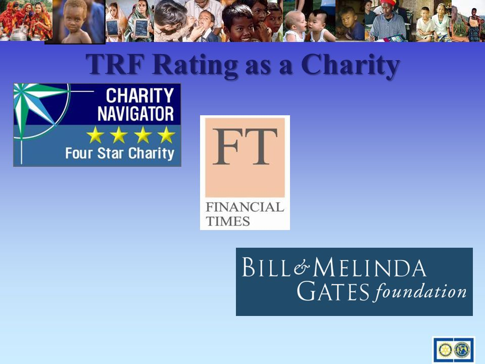 TRF Rating as a Charity