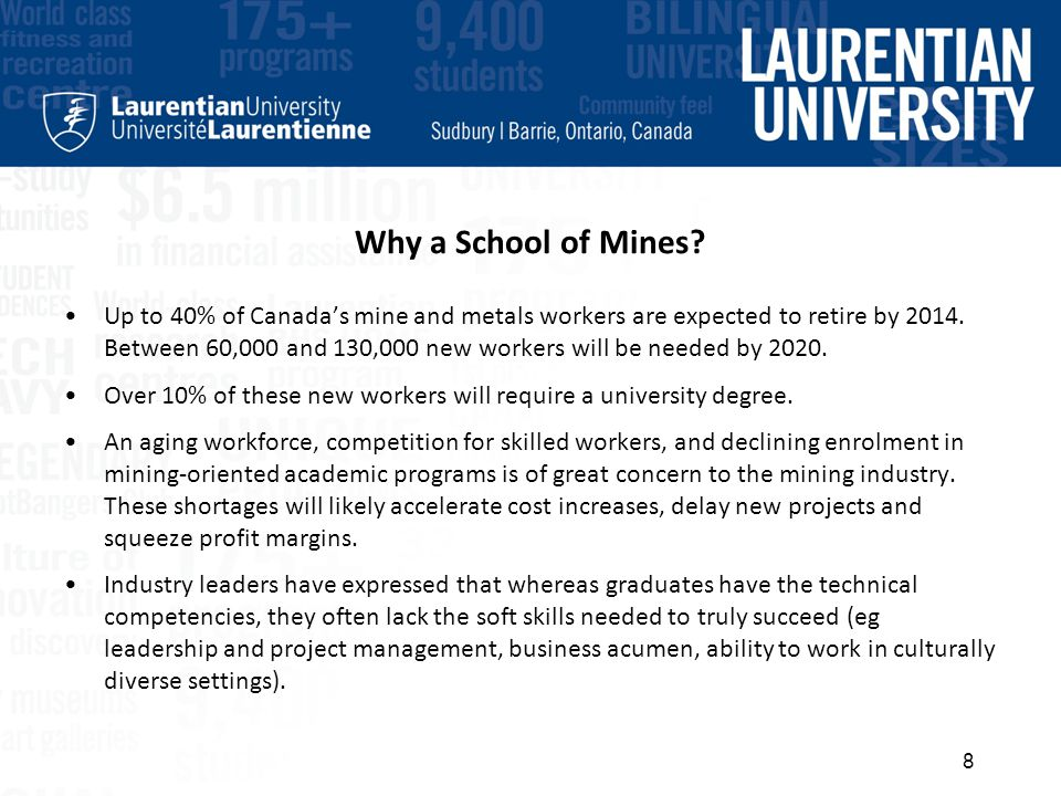 Why a School of Mines.
