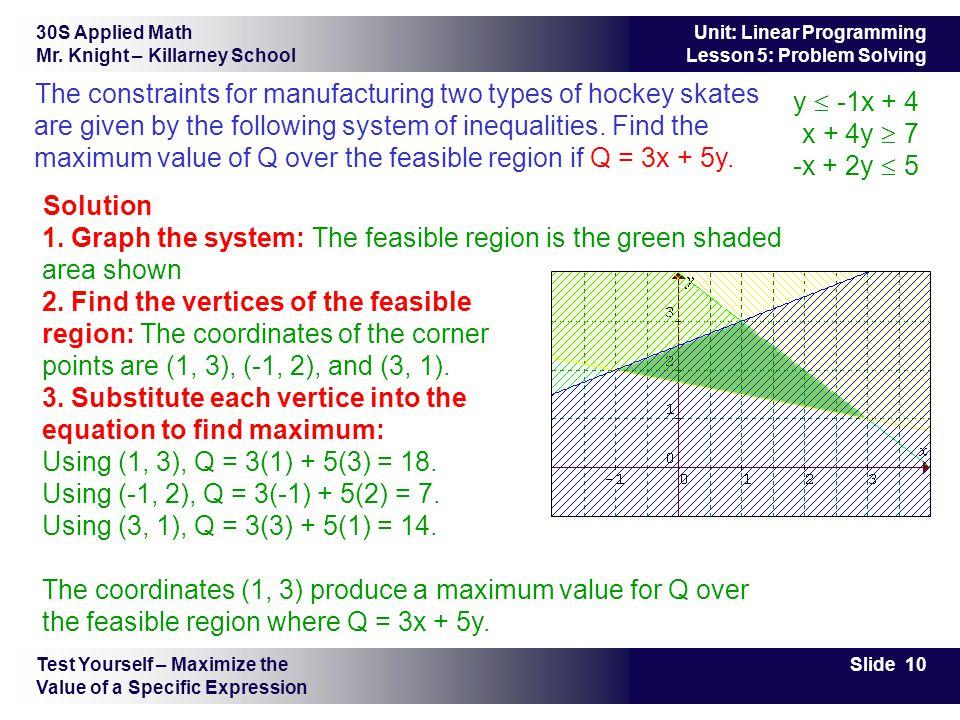 30S Applied Math Mr.