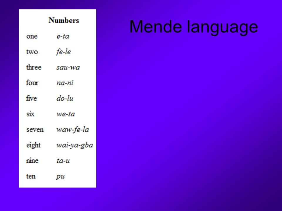 Mende language