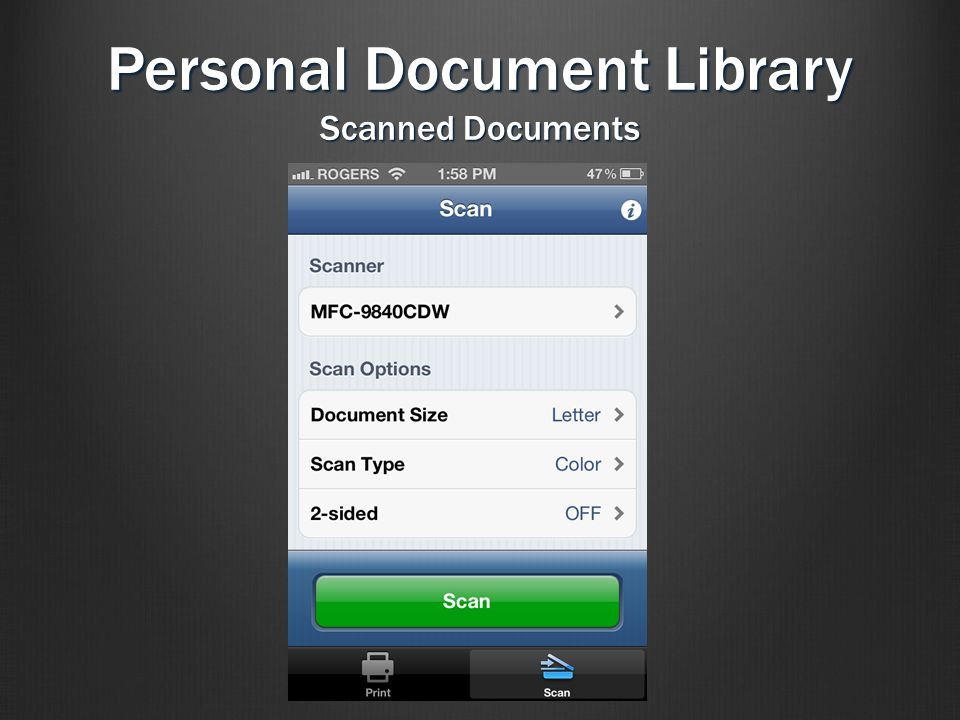 Personal Document Library Scanned Documents
