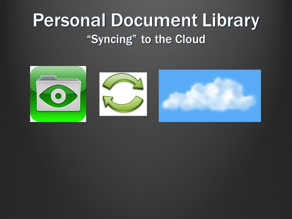 Personal Document Library Syncing to the Cloud