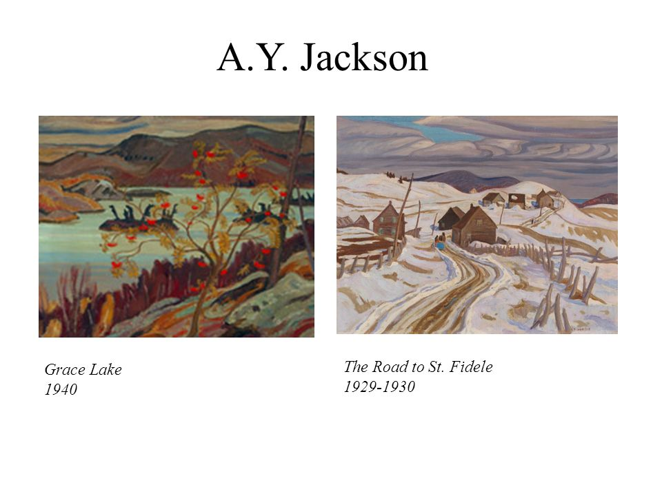 A.Y. Jackson Grace Lake 1940 The Road to St. Fidele 1929-1930