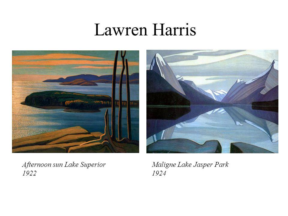 Lawren Harris Afternoon sun Lake Superior 1922 Maligne Lake Jasper Park 1924