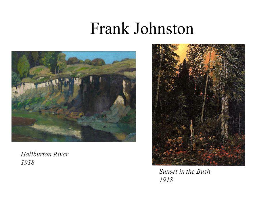 Haliburton River 1918 Sunset in the Bush 1918 Frank Johnston