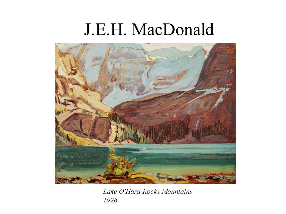 J.E.H. MacDonald Lake O'Hara Rocky Mountains 1926