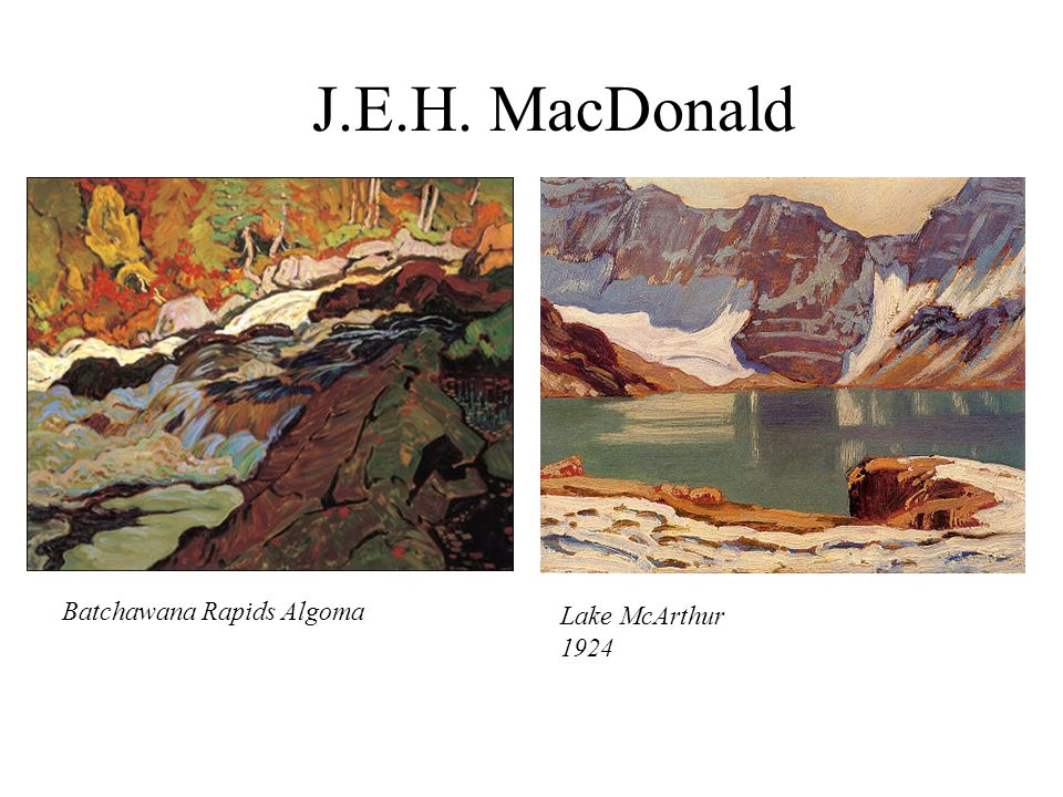 J.E.H. MacDonald Batchawana Rapids Algoma Lake McArthur 1924