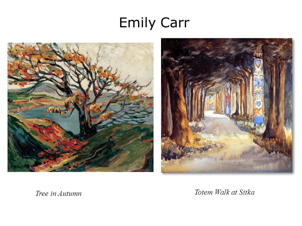 Emily Carr Tree in Autumn Totem Walk at Sitka