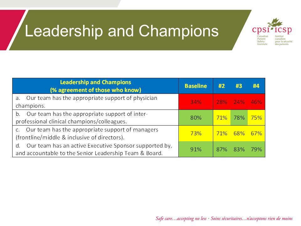 Leadership and Champions