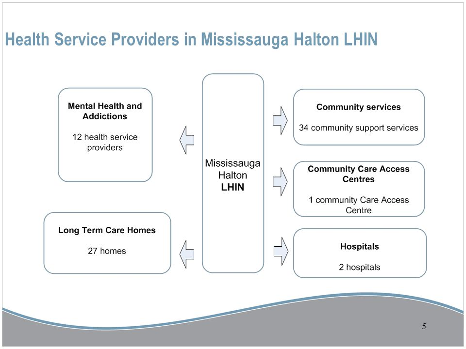 5 Health Service Providers in Mississauga Halton LHIN