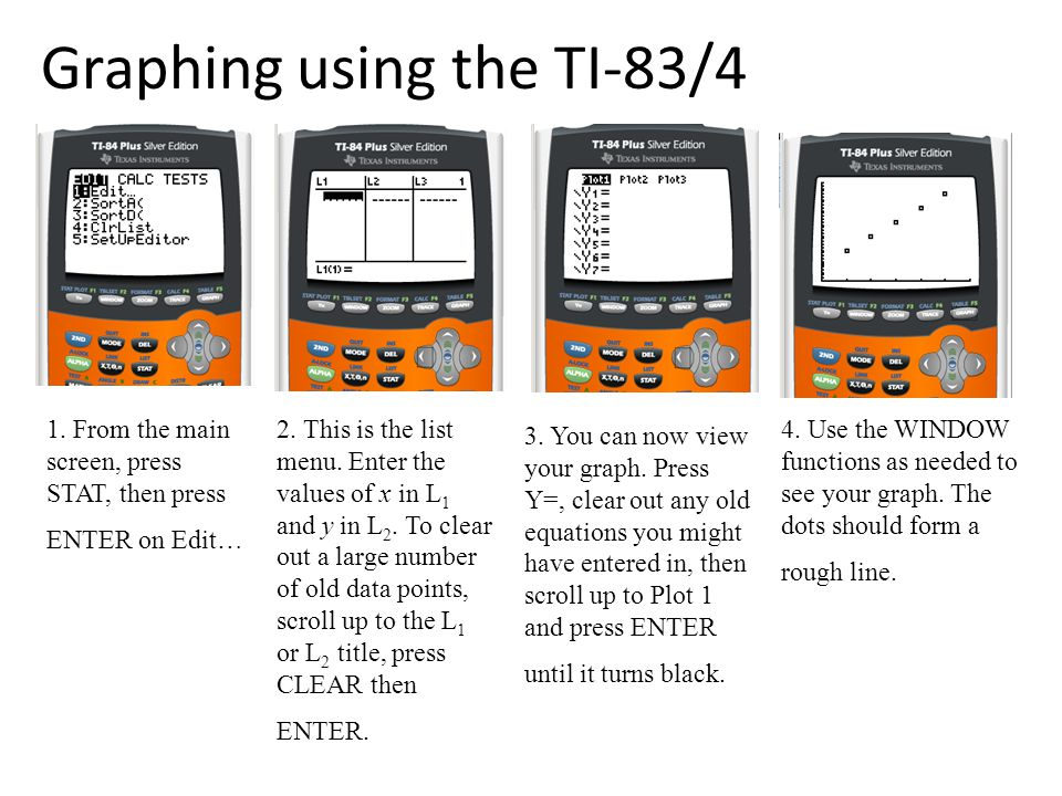 Graphing using the TI-83/4 5.