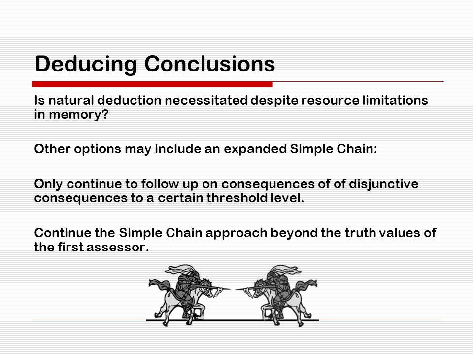 Deducing Conclusions Is natural deduction necessitated despite resource limitations in memory.