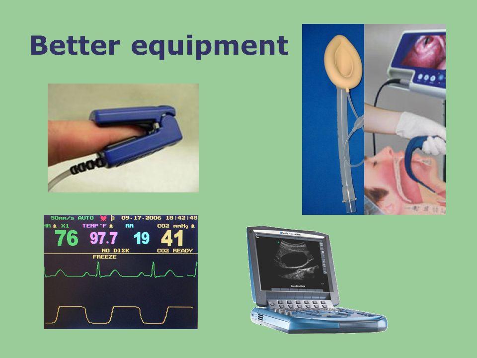 Better equipment