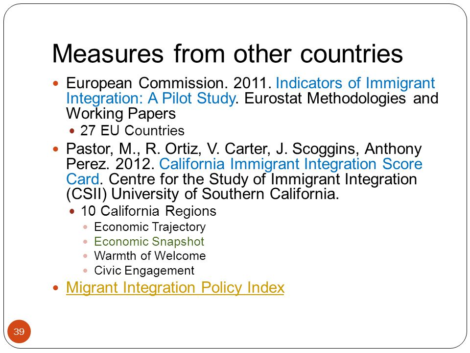 Measures from other countries 39 European Commission.
