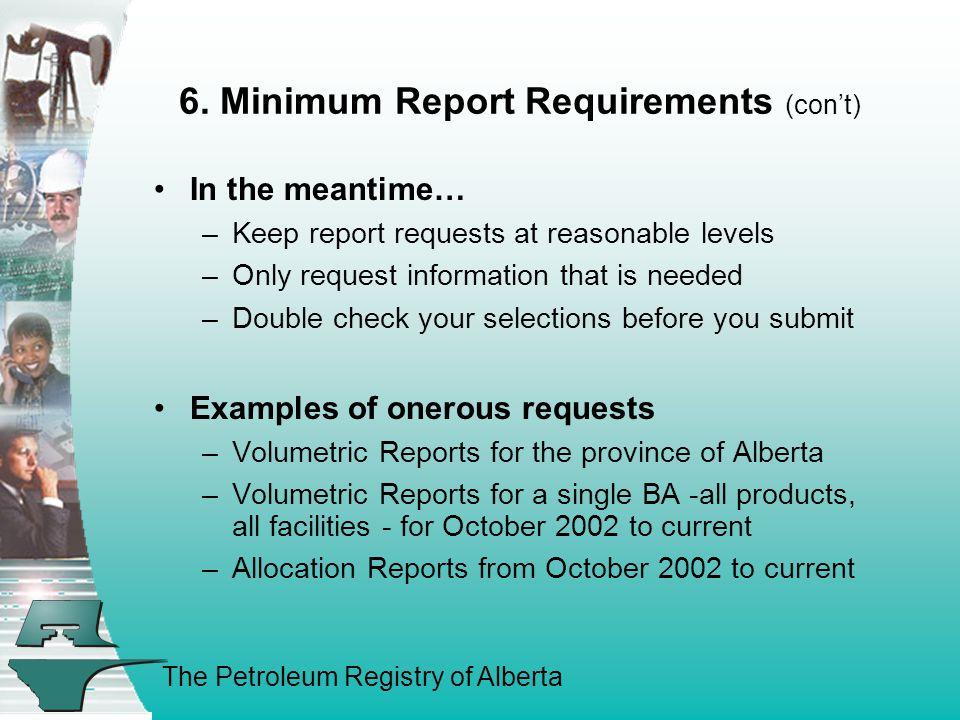 The Petroleum Registry of Alberta 6.