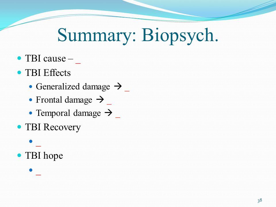Summary: Biopsych.