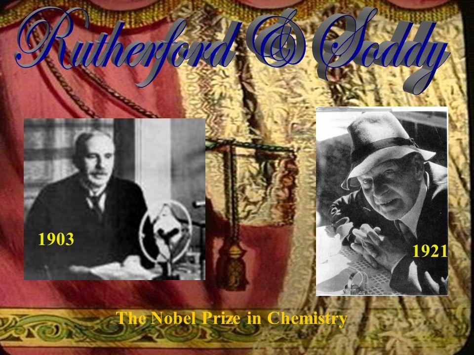 The Nobel Prize in Chemistry 1921 1903