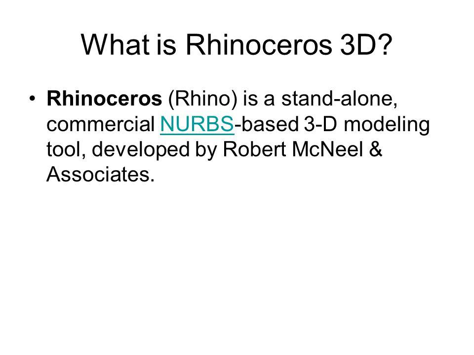 What is Rhinoceros 3D.