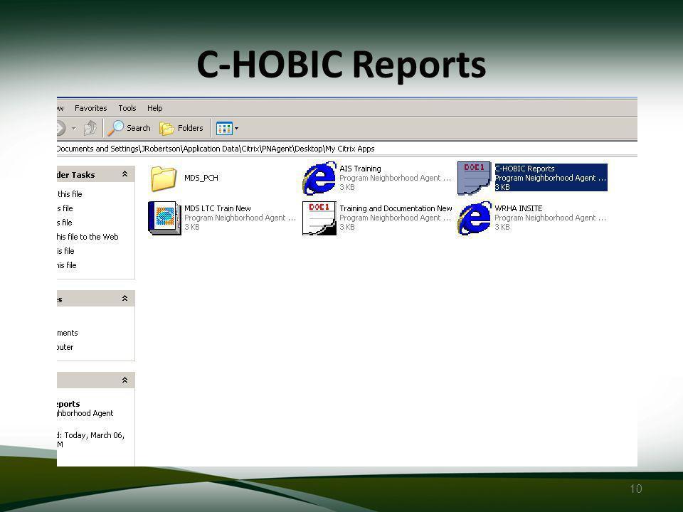 10 C-HOBIC Reports
