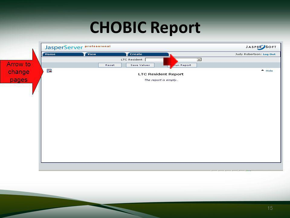 15 CHOBIC Report Arrow to change pages