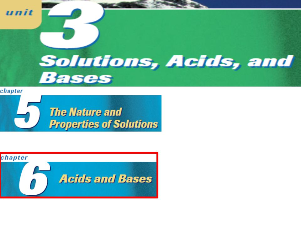 Substances that change colour due to the acidity of a solution. Acid – Base Indicators:
