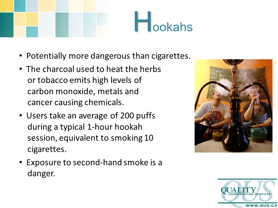 H H ookahs Potentially more dangerous than cigarettes.