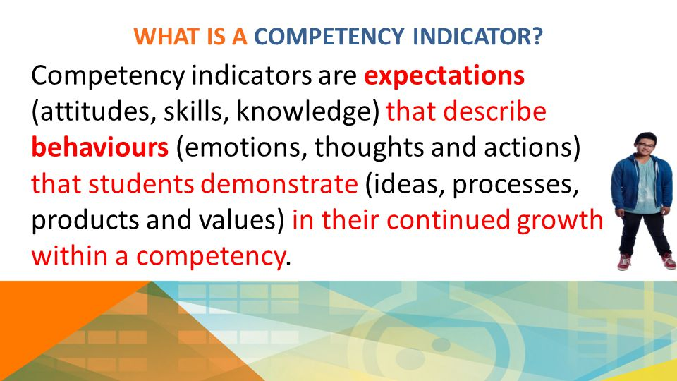 WHAT IS A COMPETENCY INDICATOR.