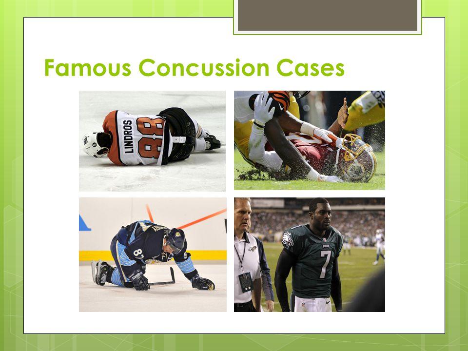 Famous Concussion Cases